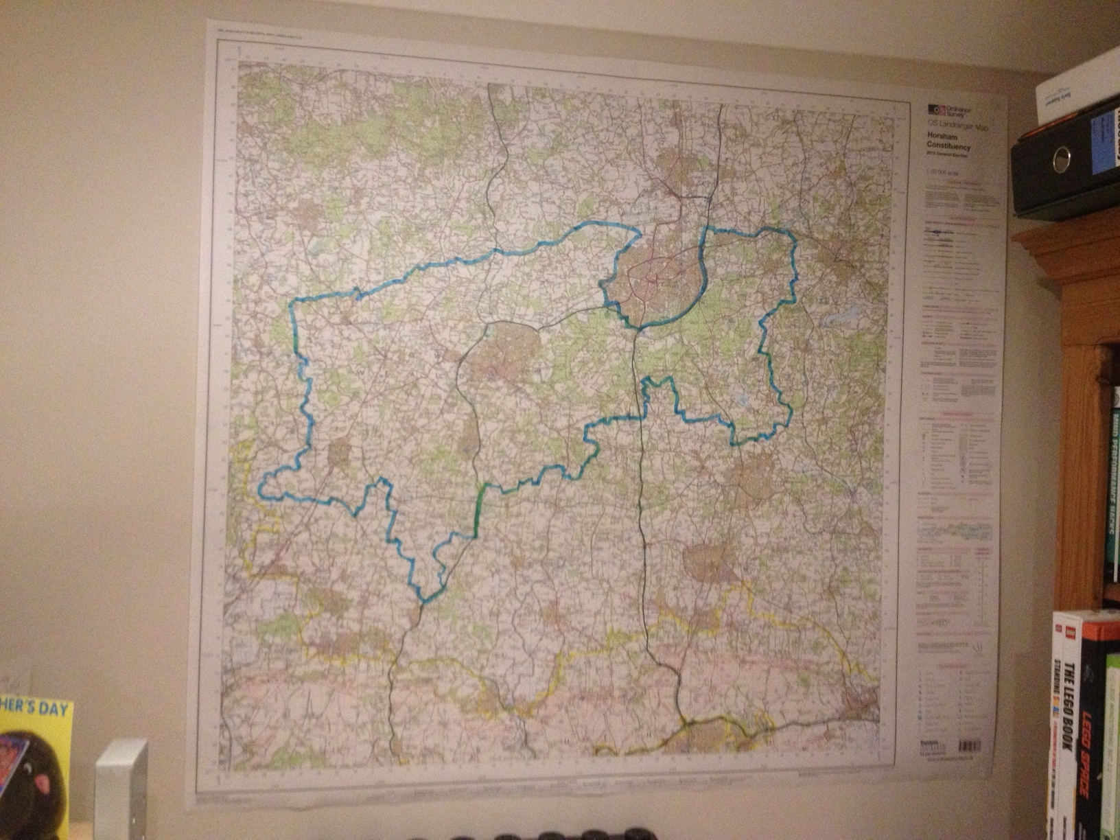 Horsham constituency wall map